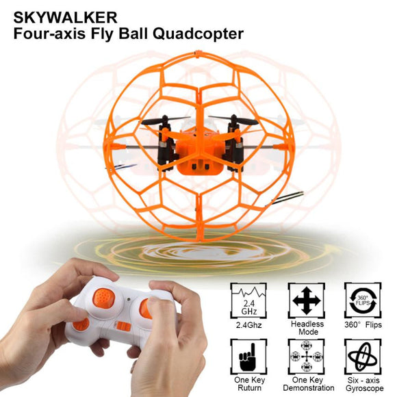 Mini Drone Helic Max Sky Walker 1340 2.4GHz 4CH Fly Ball RC Quadcopter 3D Flip Roller headless Drone RC Helicopter toys - Bargain Concept