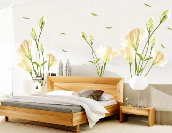 Super Deal Lily DIY Removable Wall Stickers Mural Flower - Bargain Concept