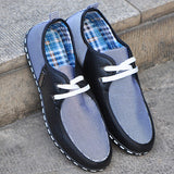 Merkmak British Style Men's Flats Fashion Striped Breathable Lace-Up Casual Zapato Flat Shoes Casual Men - Bargain Concept