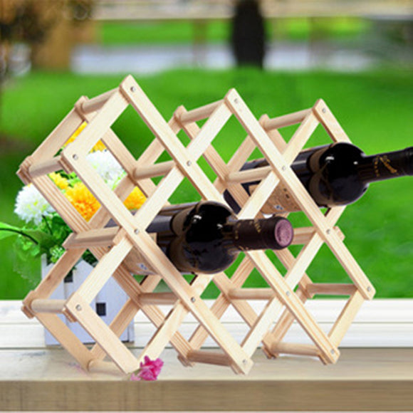 Solid Wood Folding Wine Rack - Bargain Concept