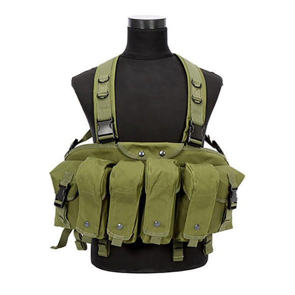 Tactical Recon Chest Rig Vest Military Airsoft Paintball Hunting with w/ Mag Pouch - Bargain Concept