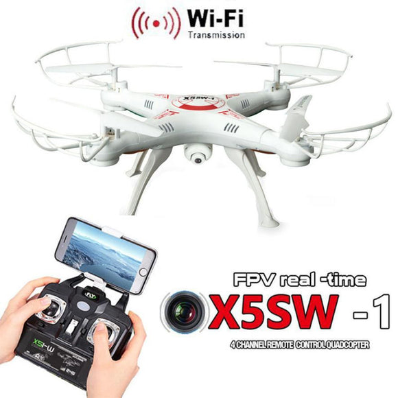 X5SW-1 6-Axis Gyro 2.4G 4CH Real-time images  RC Quadcopter drone wifi HD Camera One-press Return Helicopter - Bargain Concept