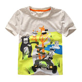 baby boy T shirt cotton animal print short sleeve - Bargain Concept