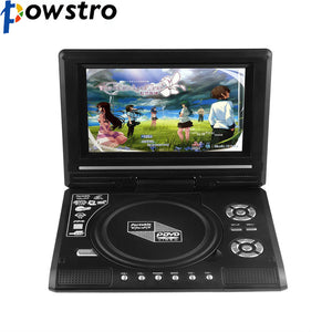 POWSTRO K Portable 7.8'' DVD Player with 7 Inch TFT Display Screen 270 Rotating Game Analog TV USB SD Card Slots MP3 CD VCD Play - Bargain Concept