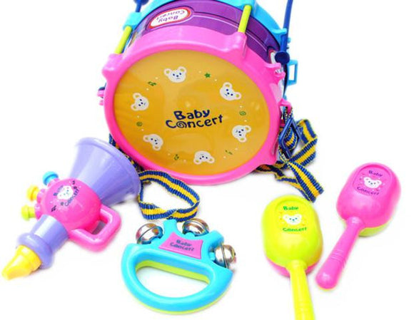 5pcs Kids Baby Roll Drum Musical Instruments Band Kit - Bargain Concept