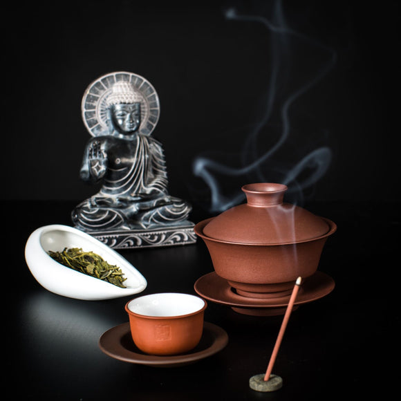 incense burning and tea ceremony