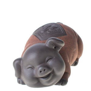 Happy Pig Tea Pet (Yixing Clay)