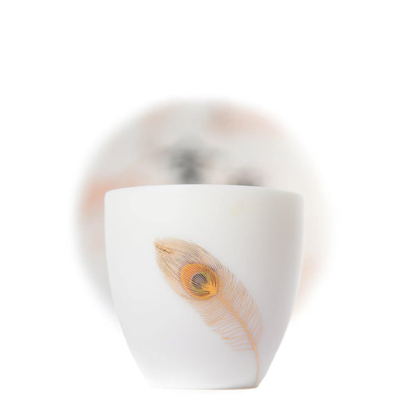 Blanc De Chine Porcelain Teacups_Feather