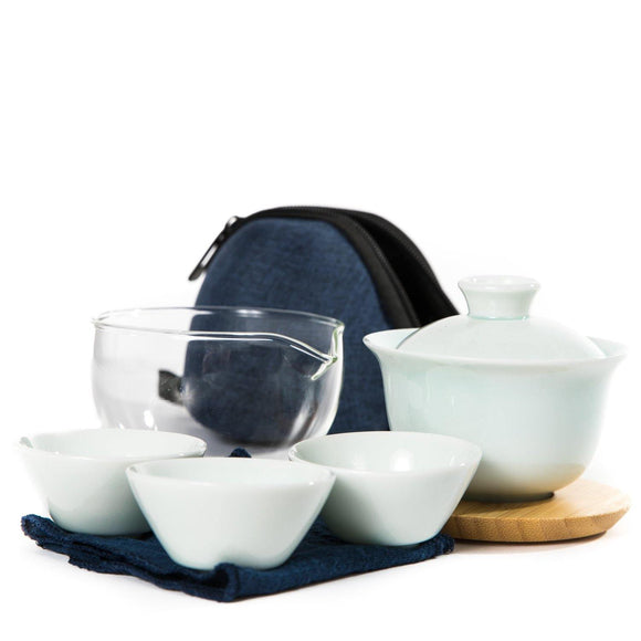 Porcelain Gong Fu Travel Tea Set