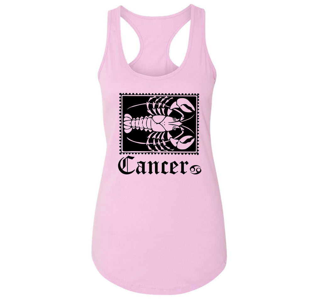 Horoscope Cancer Tee Ladies Racerback Tank Top