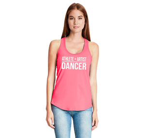 Athlete Artist Dancer Ladies Gathered Racerback Tank Top