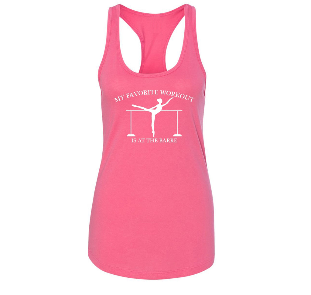Favorite Workout At The Barre Ladies Racerback Tank Top