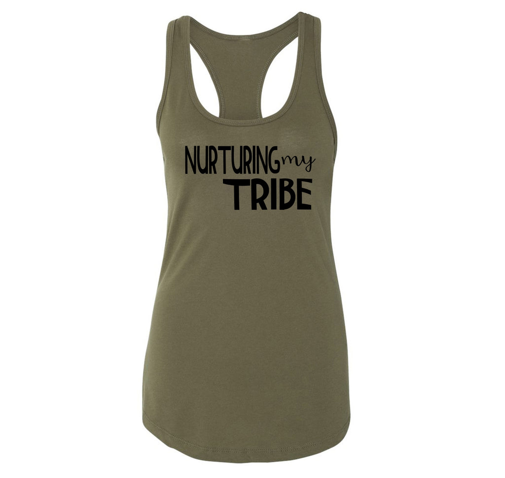 Nurturing My Tribe Ladies Racerback Tank Top