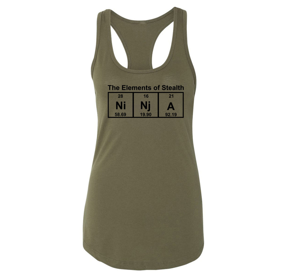 Ninja The Elements Of Stealth Ladies Racerback Tank Top