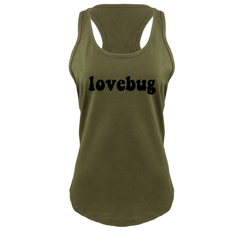Lovebug Ladies Gathered Racerback Tank Top