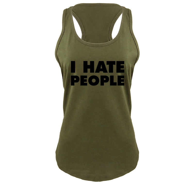 I Hate People Ladies Gathered Racerback Tank Top