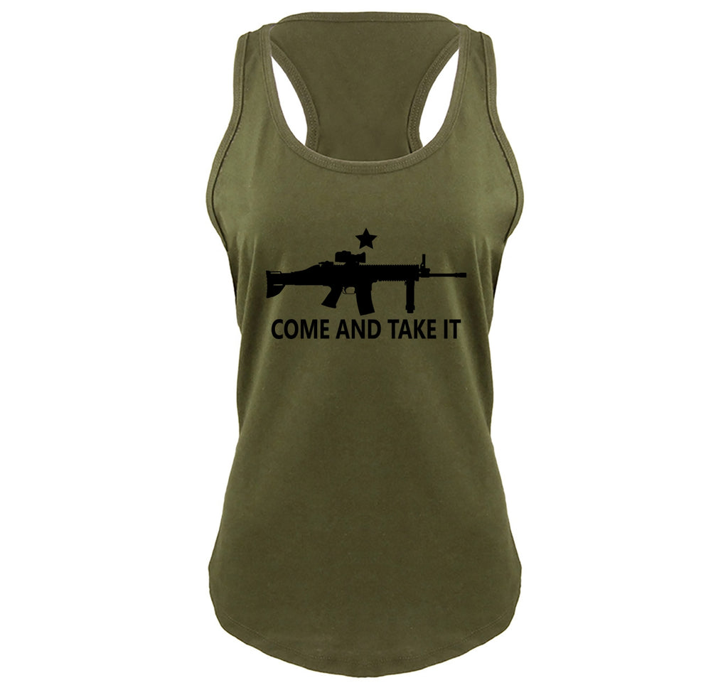 e53f1272 Come And Take It T Shirt Gun Lover Ar15 Rights 2nd Amendment Gift Tee  Ladies Gathered