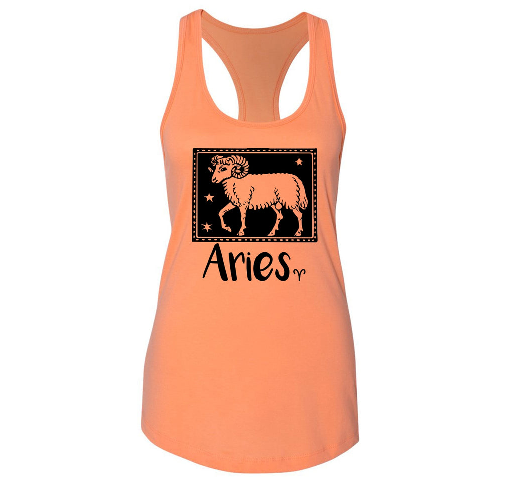Horoscope Aries Tee Ladies Racerback Tank Top