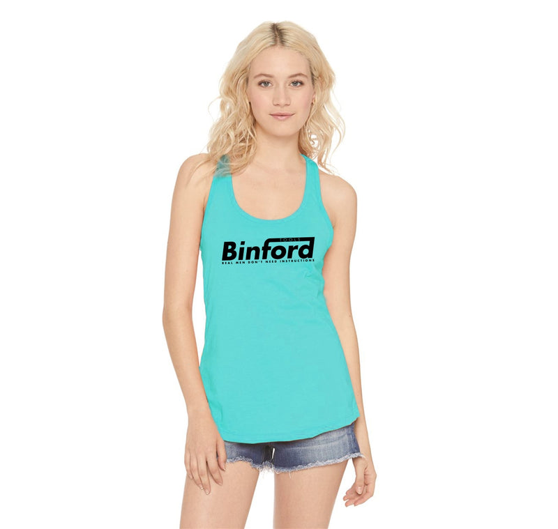 Binford Tools Don't Need Instructions Ladies Racerback Tank Top