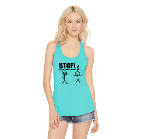 Stop You're Under A Rest Funny Music Piano Shirt Ladies Racerback Tank Top