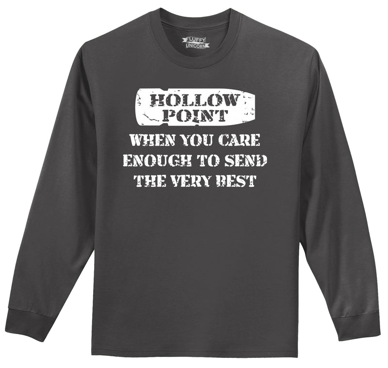 Hollow Point Mens Long Sleeve Tee Shirt