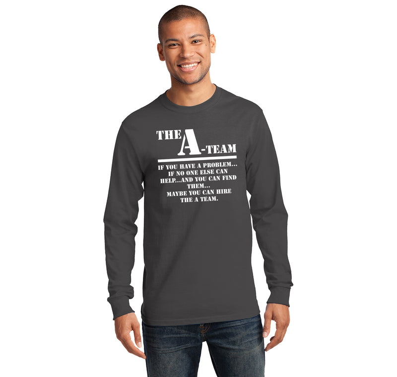 The A Team 80's TV Show Shirt Mens Long Sleeve Tee Shirt