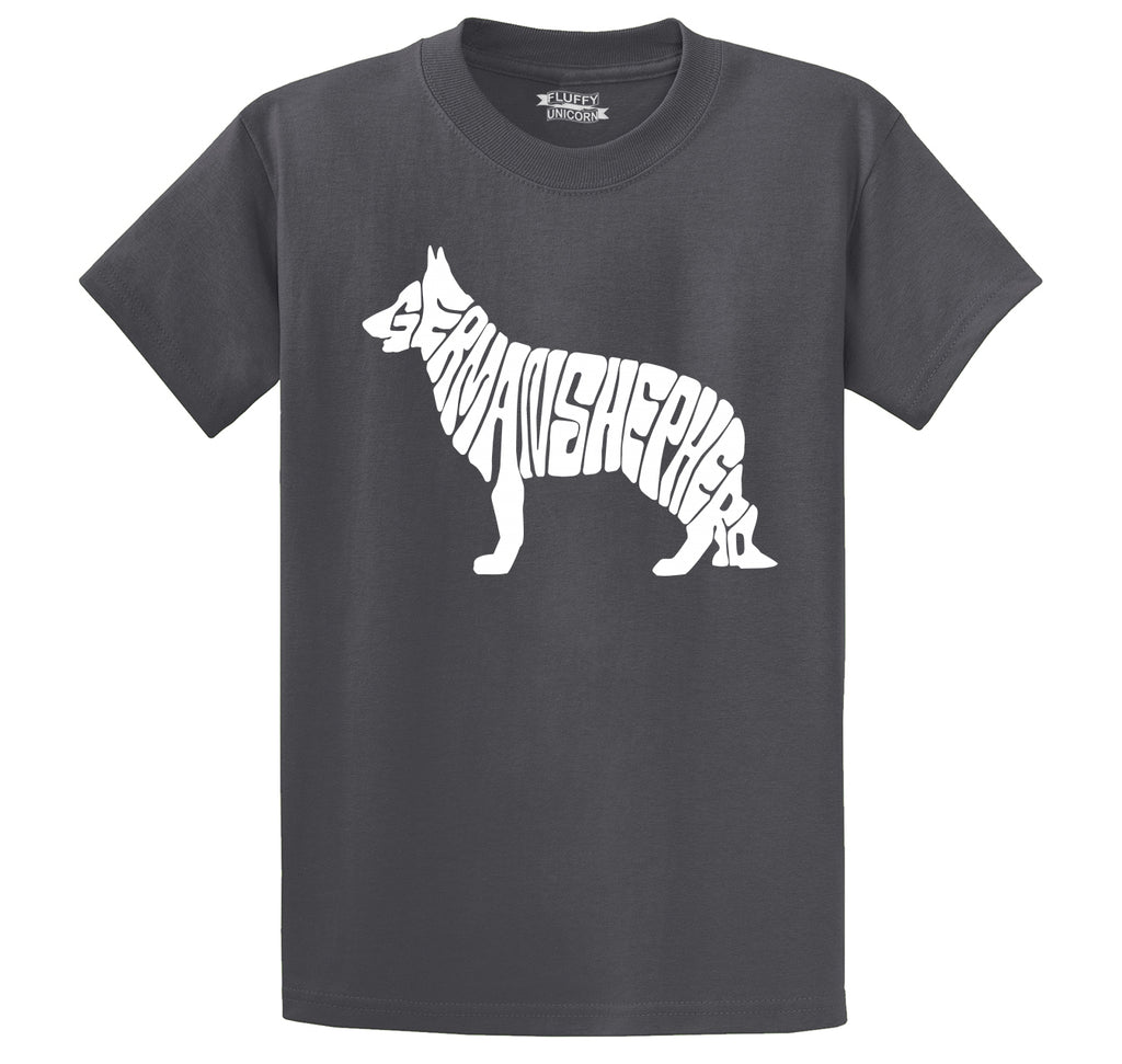 German Shepherd Men's Heavyweight Big & Tall Cotton Tee Shirt