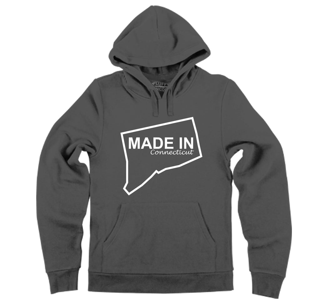 Made In Connecticut Cute Home State Pride Tee Hooded Sweatshirt