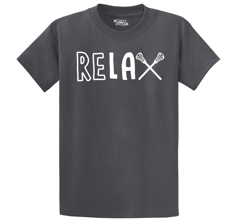 ReLAX Lacrosse T Shirt Men's Heavyweight Big & Tall Cotton Tee Shirt