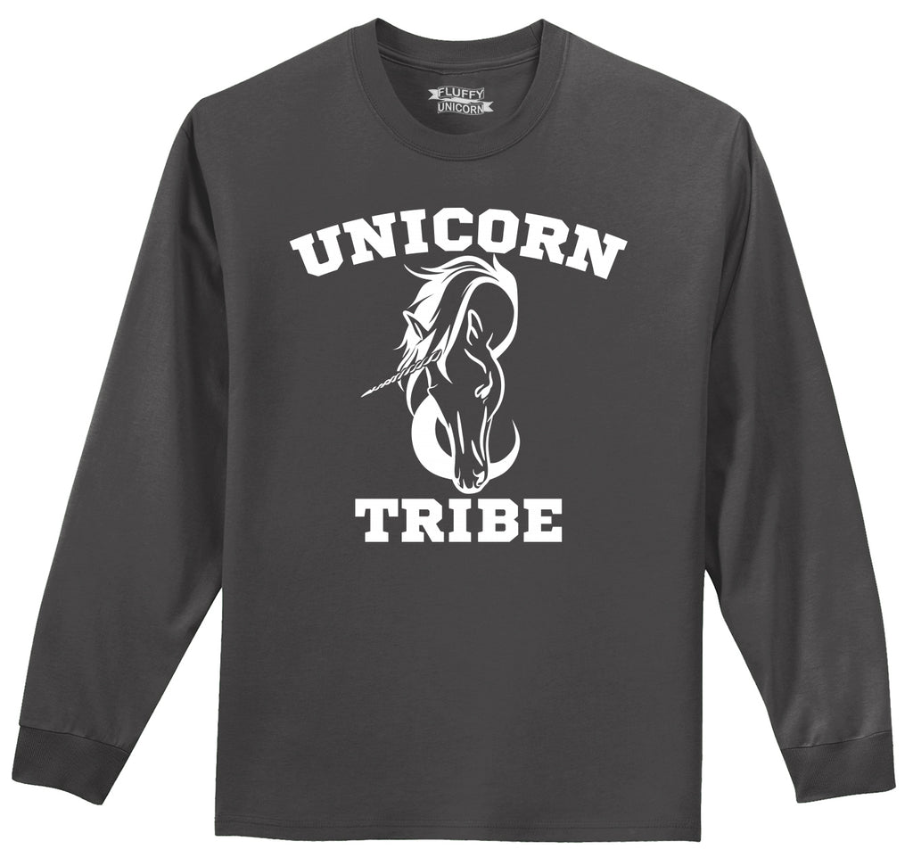 Unicorn Tribe Mens Long Sleeve Tee Shirt