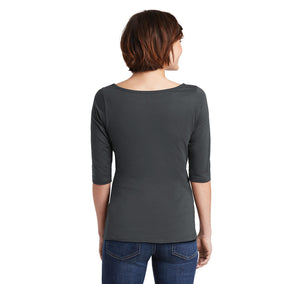 I'd Tap That Ladies Wide Neck 3/4 Sleeve Tee