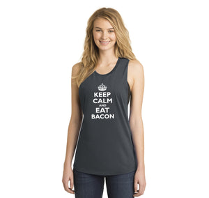 Keep Calm and Eat Bacon Ladies Festival Tank Top