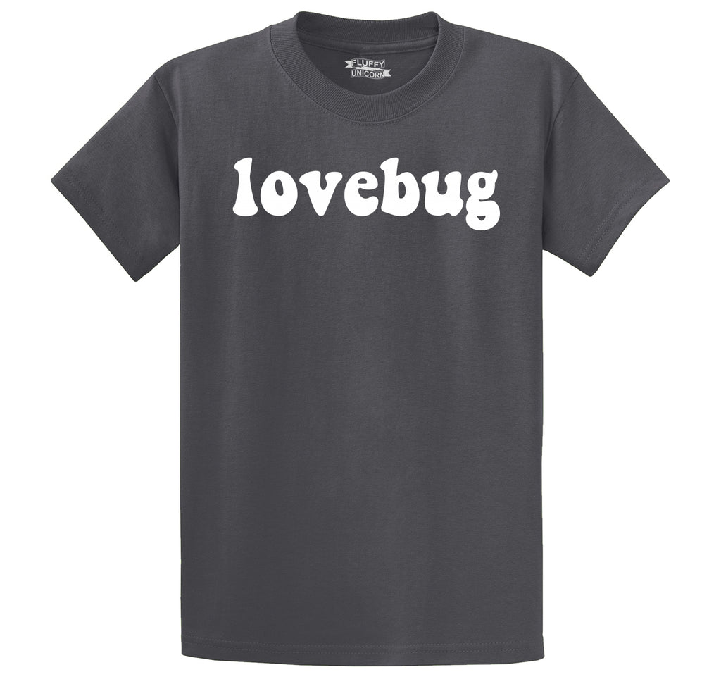 Lovebug Men's Heavyweight Big & Tall Cotton Tee Shirt