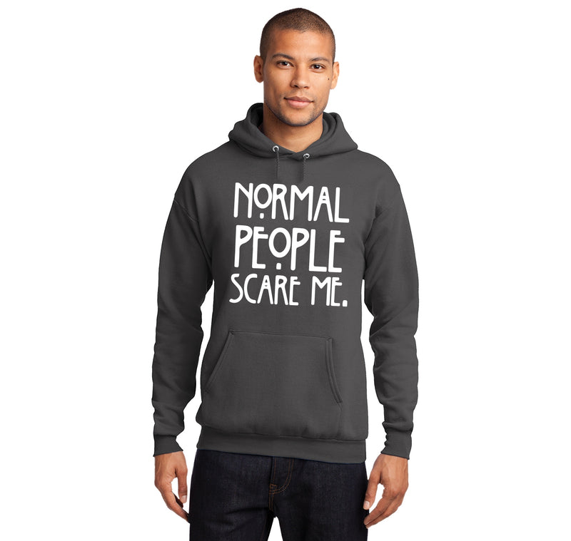 Normal People Scare Me Hooded Sweatshirt