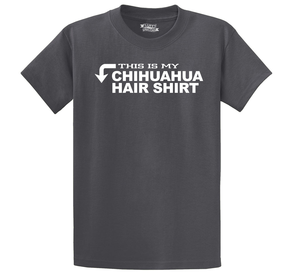 This Is My Chihuahua Hair Shirt Men's Heavyweight Cotton Tee Shirt