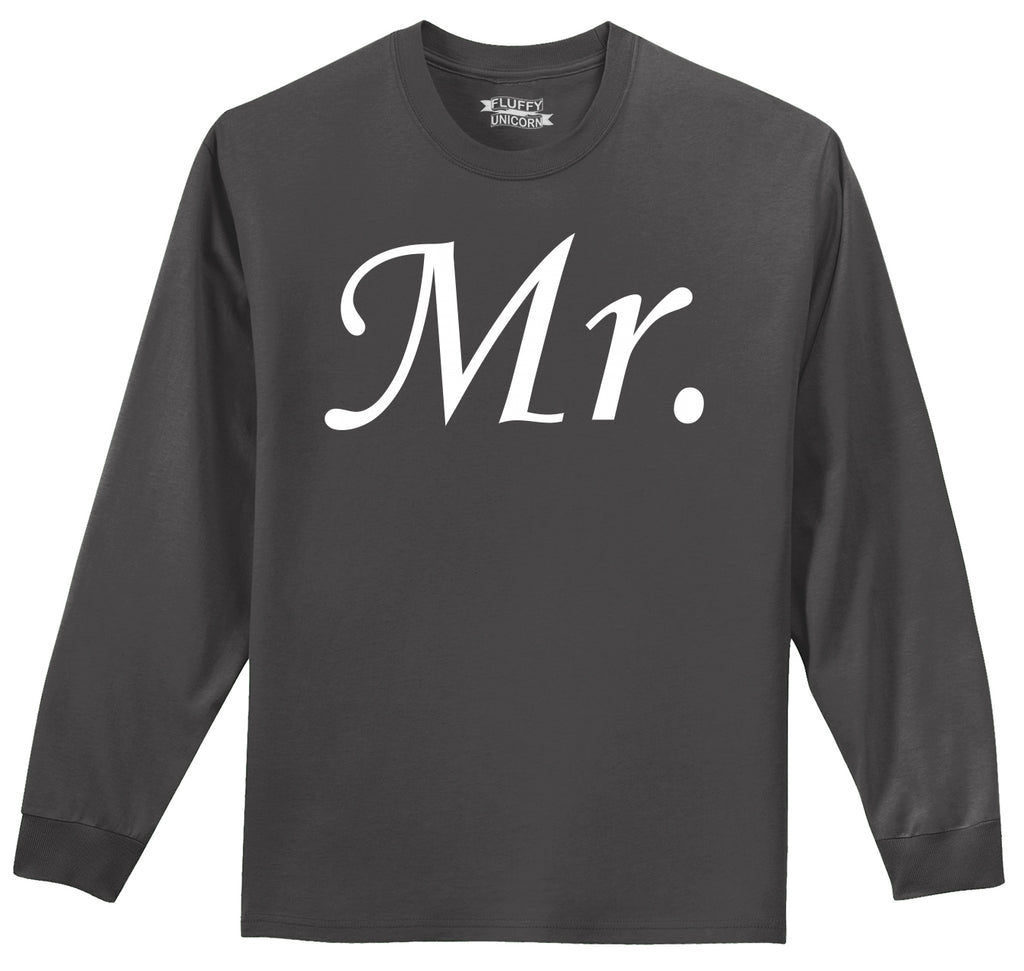 Mr. Groom Wedding Gift Mens Long Sleeve Tee Shirt