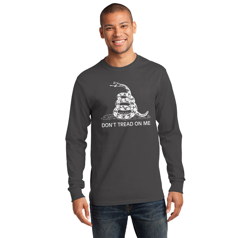 Gadsden Flag Don't Tread On Me Mens Long Sleeve Tee Shirt
