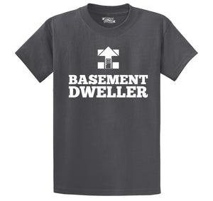 Basement Dweller Hillary Logo Spoof Bernie Sanders Tee Men's Heavyweight Cotton Tee Shirt