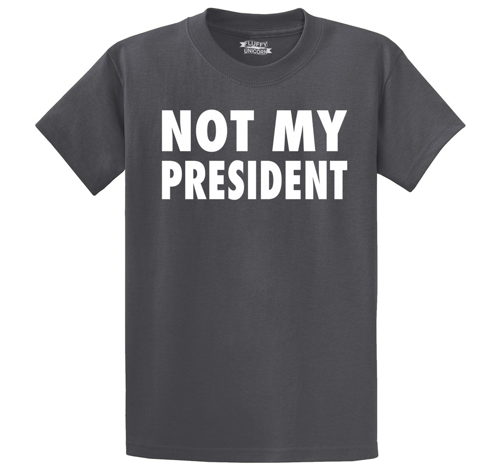 Not My President Tee Anti Trump Protest Political Tee Men's Heavyweight Cotton Tee Shirt