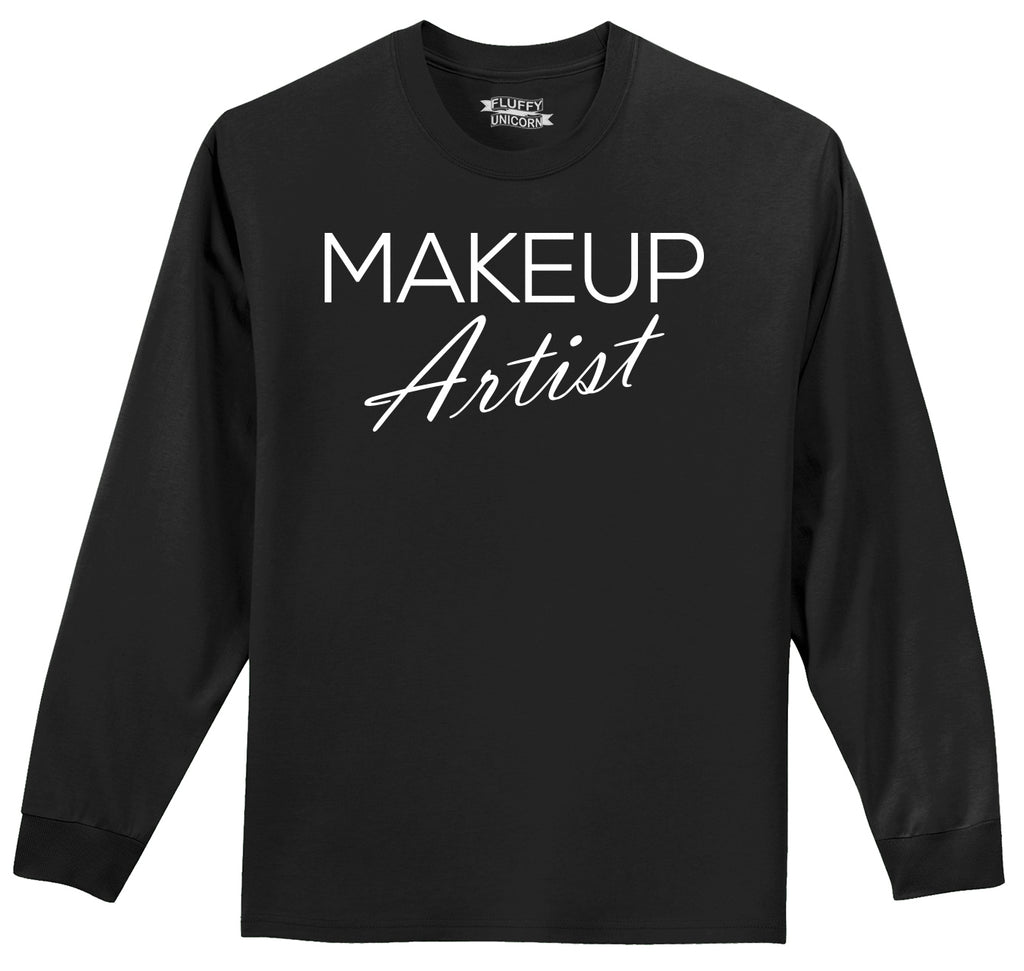 Makeup Artist Mens Long Sleeve Tee Shirt