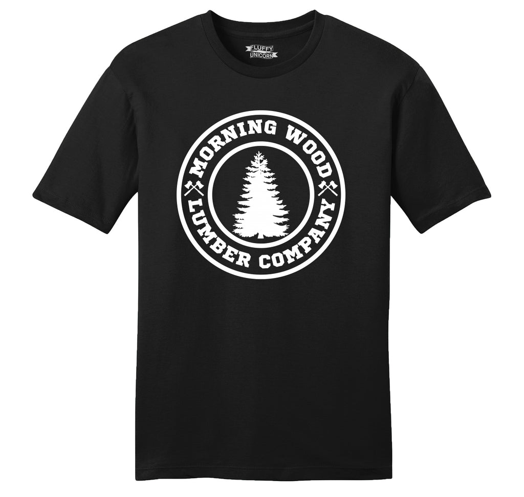 Morning Wood Lumber Company Mens Ringspun Cotton Tee Shirt