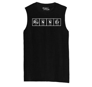 Runner - Periodic Table Of Elements Mens Muscle Tank Muscle Tee
