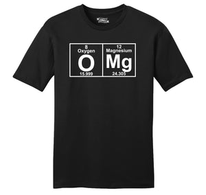 OMG Periodic Table Of Elements Mens Ringspun Cotton Tee Shirt