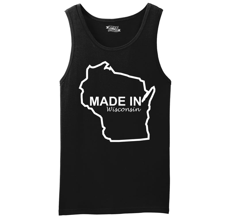 Made In Wisconsin Mens Sleeveless Tank Top