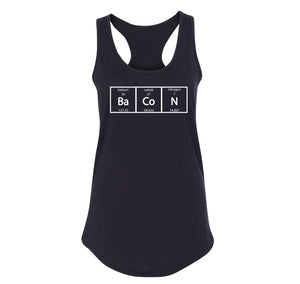 Bacon Periodic Table Ladies Racerback Tank Top