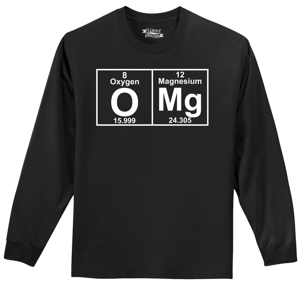 OMG Periodic Table Of Elements Mens Long Sleeve Tee Shirt