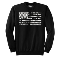 Distressed American Flag Patriotic July 4th Shirt Crewneck Sweatshirt