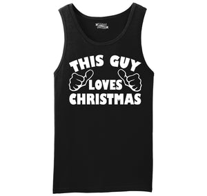 This Guy Loves Christmas Mens Sleeveless Tank Top