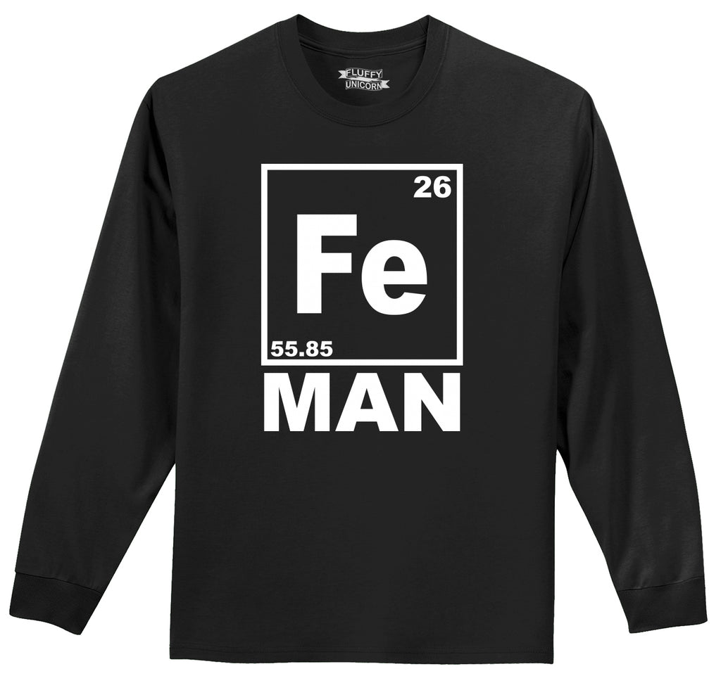 Fe Man Mens Long Sleeve Tee Shirt
