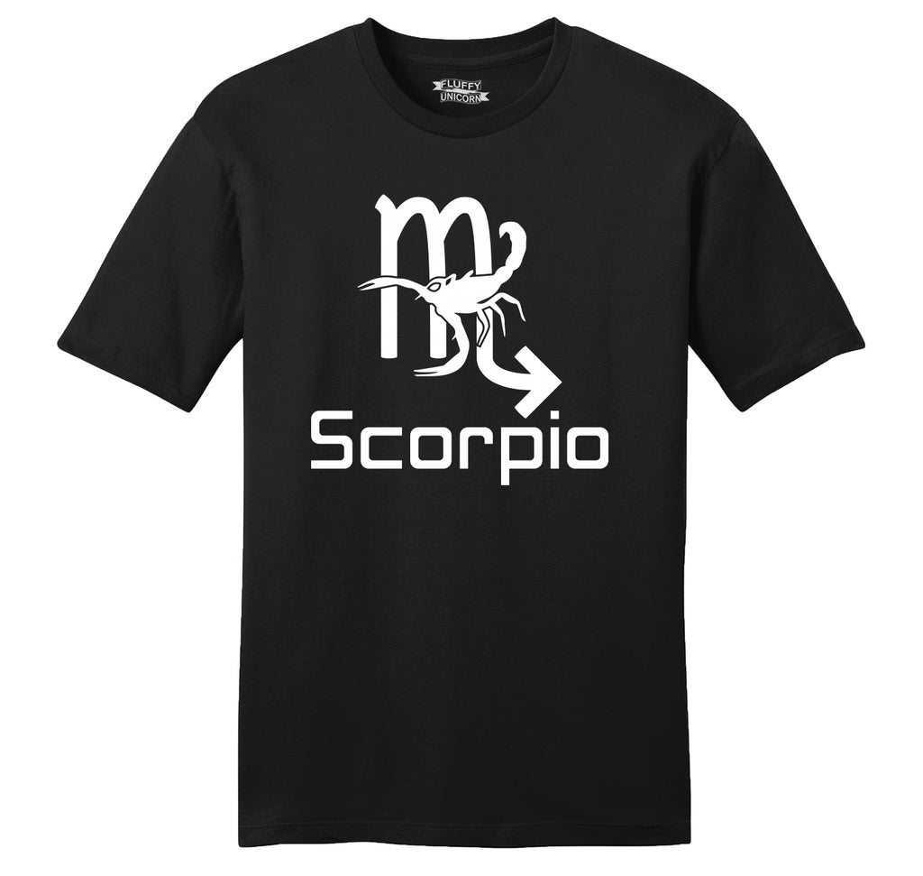 Scorpio Horoscope Birthday Gift Mens Ringspun Cotton Tee Shirt